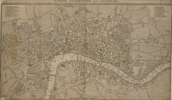 LONDON, WESTMINSTER AND SOUTHWARK, Accurately delineated from the latest Surveys,
